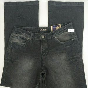 L.A. Blues Sz 14 Distressed Bootcut Flare Jeans